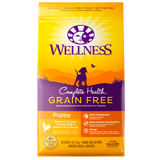 WELLNESS Complete Health Grain-Free Dry Food: Puppy Deboned Chicken, Chicken Meal & Salmon Meal (4lb/12lb/24lb)