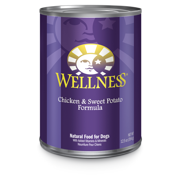 WELLNESS Complete Health Wet Food Pate: Chicken & Sweet Potato (12.5oz)