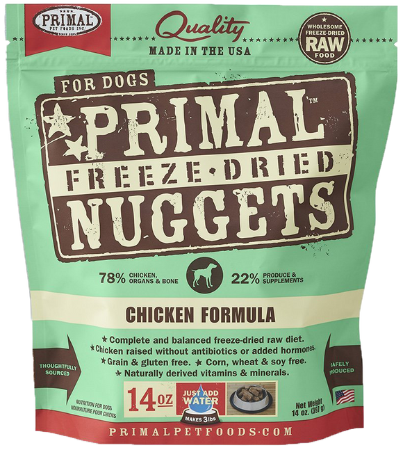 *PROMO* PRIMAL Freeze-Dried Grain-Free: Chicken Formula (4 Packs x 14oz)