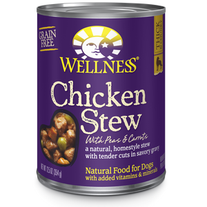 WELLNESS Complete Health Grain-Free Wet Food: Chicken Stew (12.5oz)