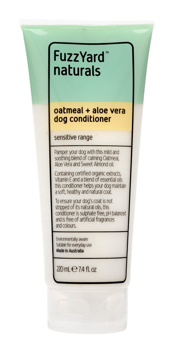 FUZZYARD Oatmeal + Aloe Vera Sensitive Dog Conditioner (220ml)