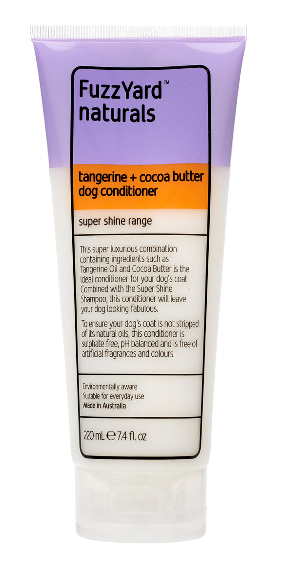 FUZZYARD Tangerine + Cocoa Butter Super Shine Dog Conditioner (220ml)