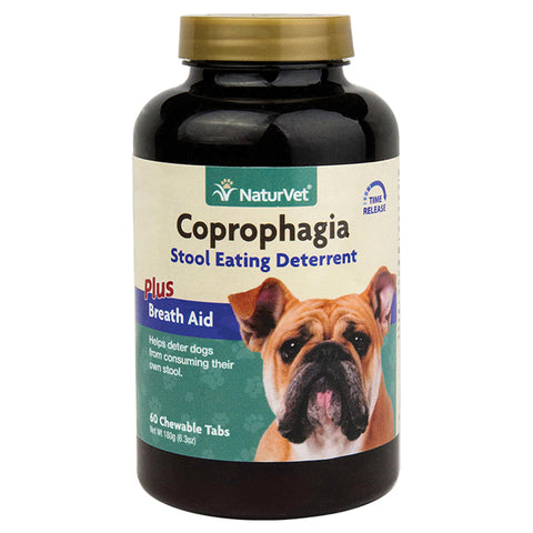 NaturVet Coprophagia Stool Eating Deterrent Chewable Tablets 60ct
