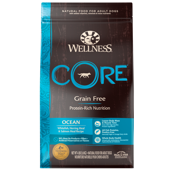 WELLNESS CORE Grain-Free Dry Food: Adult Ocean (4lb/12lb/22lb)