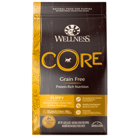 WELLNESS CORE Grain-Free Deboned Chicken, Chicken Meal and Turkey Meal (Puppy)