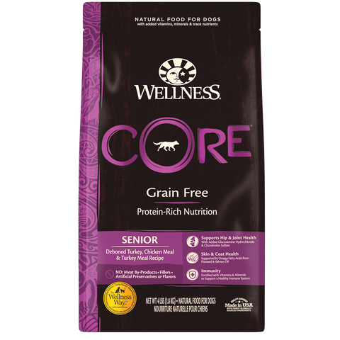 WELLNESS CORE Grain-Free Deboned Turkey, Chicken Meal and Turkey Meal (Senior)