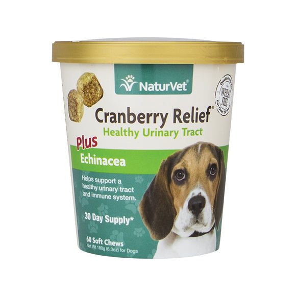 NATURVET Soft Chews: Cranberry Relief®Plus Echinacea (60ct - 30 Day Supply)