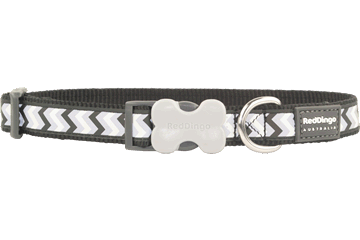 RED DINGO Collar: Bucklebone Collar Reflective Ziggy Range (4 Sizes, 8 Colours)