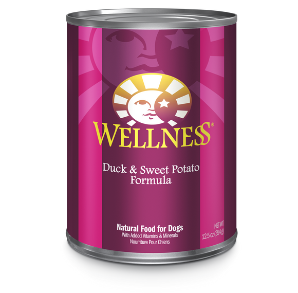 WELLNESS Complete Health Wet Food Pate: Duck & Sweet Potato (12.5oz)