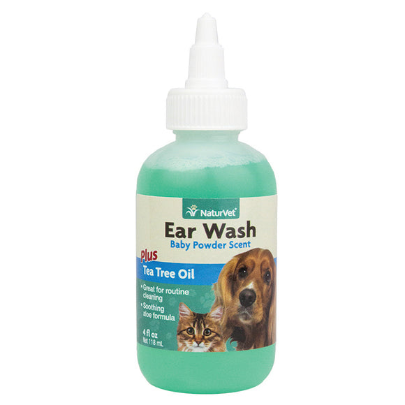 NATURVET Grooming Aid: Ear Wash With Tea Tree Oil (118ml)