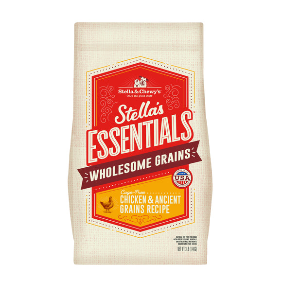 STELLA & CHEWY'S Stella's Essentials with Wholesome Grains: Cage-Free Chicken & Ancient Grains (3.5lb/25lb)