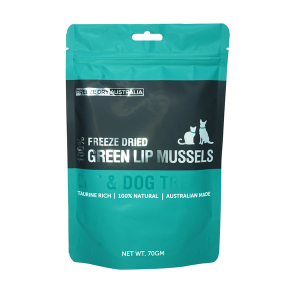 FREEZE DRY AUSTRALIA 100% Whole Green Lip Mussels (70g)