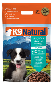 K9 NATURAL Freeze-Dried Dry Food: Puppy Hoki & Beef (1.8kg)