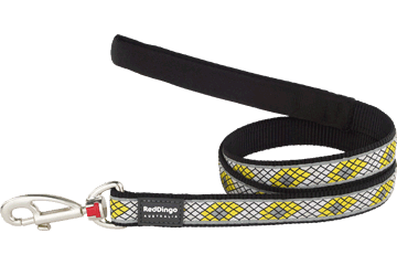 RED DINGO Fixed Dog Leads: Monty Range 1.2m (3 Sizes, 3 Designs)
