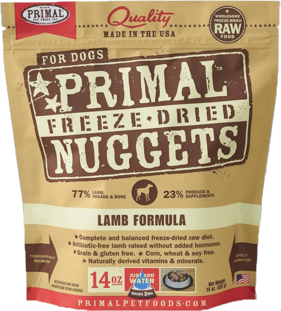 *PROMO* PRIMAL Freeze-Dried Grain-Free: Lamb Formula (4 Packs x 14oz)