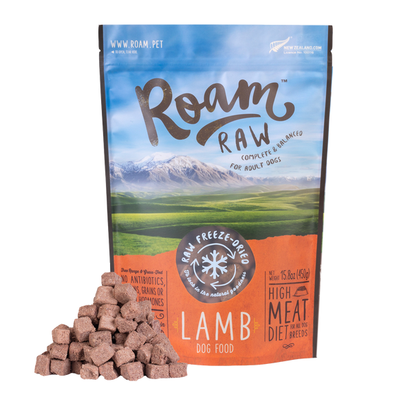 ROAM Freeze-Dried Grain-Free Food: Lamb (170g/450g)