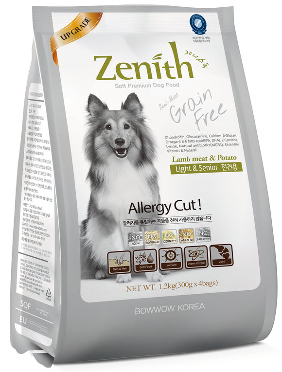 BOWWOW ZENITH Dry Food: Light & Senior Lamb Meat & Potato (1.2kg)