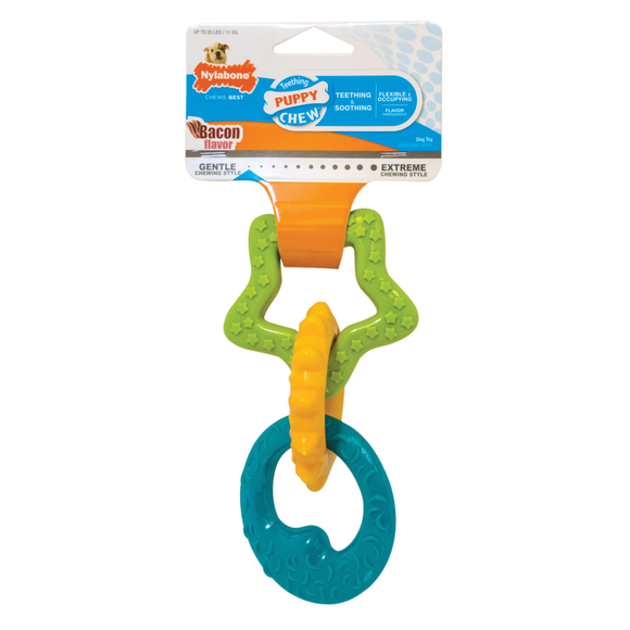 Nylabone Puppy Teething Rings (Up to 11kg)