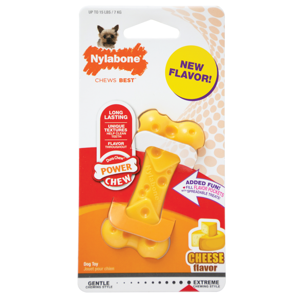 Nylabone Power Chew Cheese Bone (Petite, Up to 7kg)