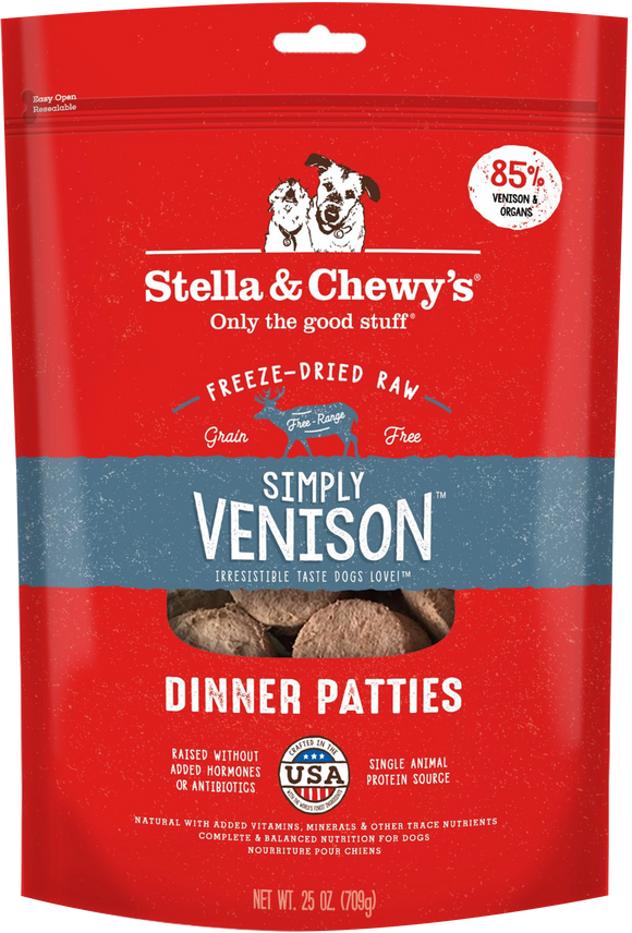 STELLA & CHEWY'S Freeze-Dried Dinner Patties: Simply Venison (25oz)