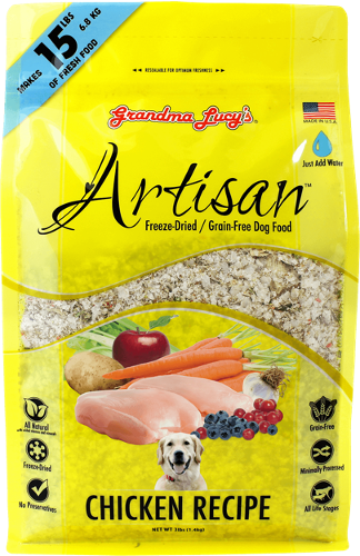 GRANDMA LUCY'S Freeze-Dried Grain-Free Dog Food: Artisan Chicken (3lb)