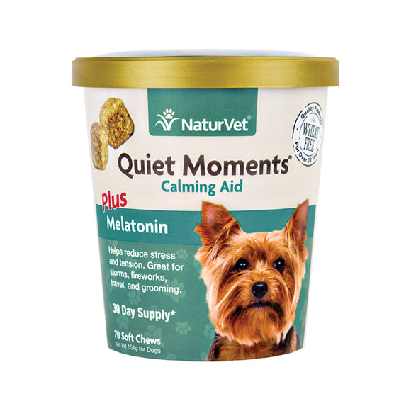 NATURVET Soft Chews: Quiet Moments Calming Aid (70ct - 30 Day Supply)