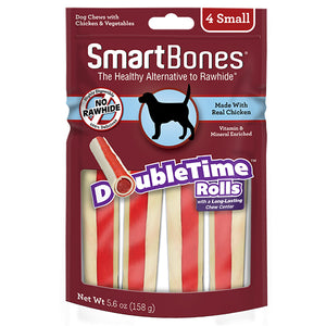 SMARTBONES DoubleTime Rolls Chicken (Small 4pcs, 5.6oz)