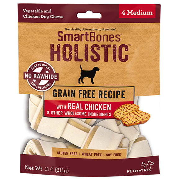 SMARTBONES Holistic Classic Bone Chews Chicken (Medium 4pcs, 11oz)