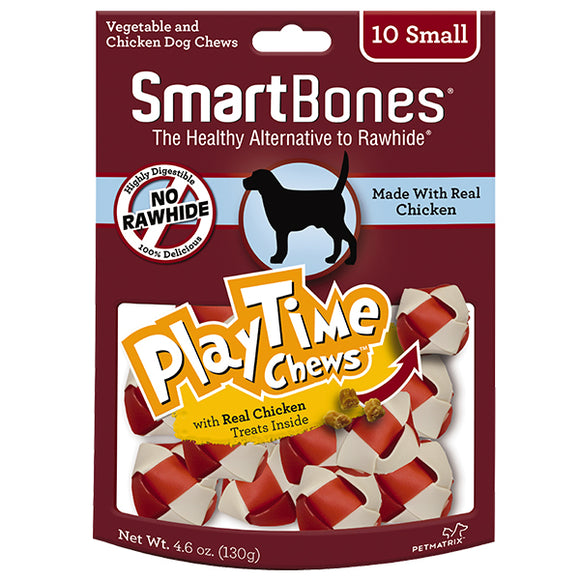 SMARTBONES PlayTime Chews Chicken (Small 10pcs, 4.6oz)
