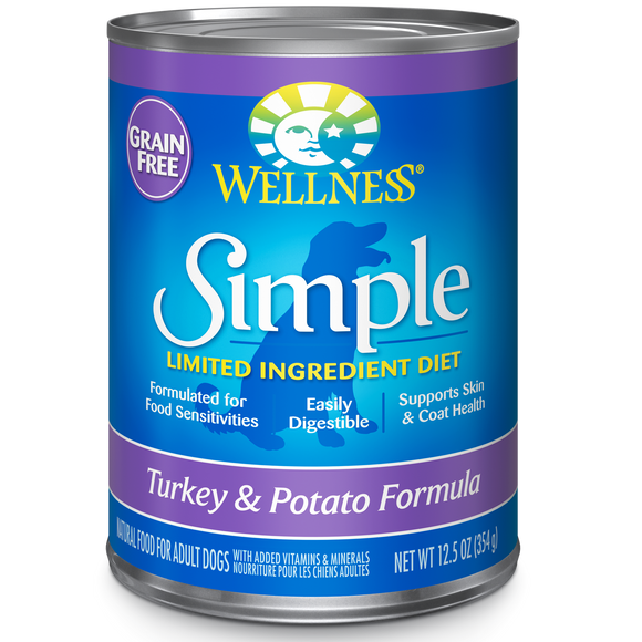 WELLNESS Simple Limited Ingredient Wet Food: Grain-Free Turkey & Potato (12.5oz)