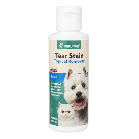 NATURVET Grooming Aid: Tear Stain Topical Remover Plus Aloe (118ml)