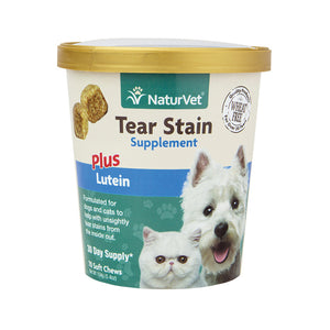 NATURVET Soft Chews: Tear Stain Supplement Plus Lutein (70ct - 30 Day Supply)