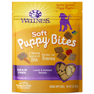 WELLNESS Puppy Bites: Soft Lamb & Salmon (3oz)
