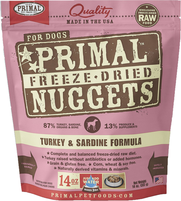 *PROMO* PRIMAL Freeze-Dried Grain-Free: Turkey & Sardine Formula