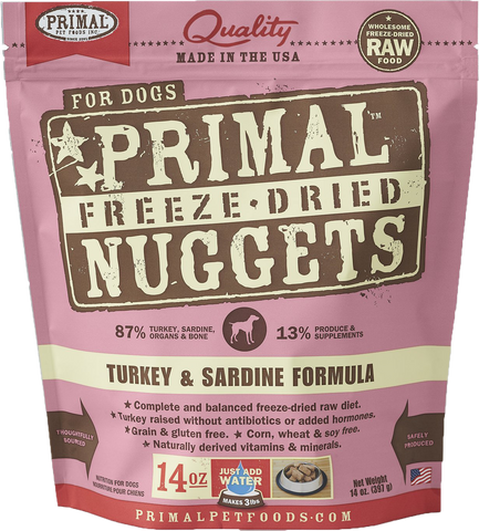 BUNDLE DEAL: Primal Freeze-Dried Grain-Free Canine Turkey & Sardine Formula Dog Food
