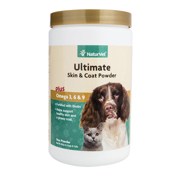 NATURVET Powder: Ultimate Skin & Coat Plus Omega 3, 6 & 9 (14oz)
