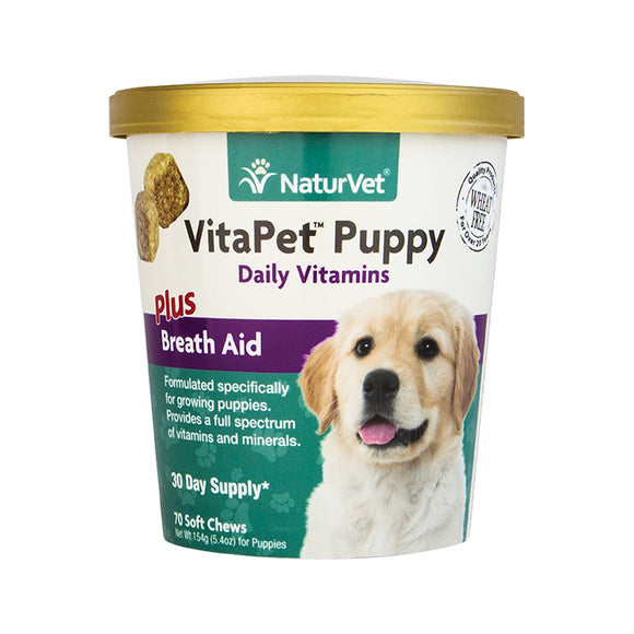 NATURVET Soft Chews: VitaPet Puppy Plus Breath Aid (70ct - 30 Day Supply)