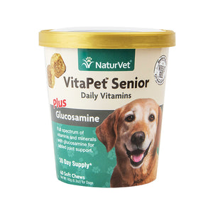 NATURVET Soft Chews: VitaPet Senior Plus Glucosamine (60ct - 30 Day Supply)