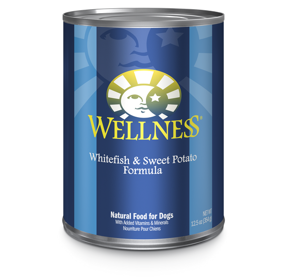 WELLNESS Complete Health Wet Food Pate: Whitefish & Sweet Potato (12.5oz)