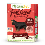 *PROMO* NATUREDIET Feel Good Wet Food -  Chicken & Lamb (200g/390g)