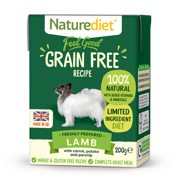 *PROMO* NATUREDIET Feel Good Grain Free Wet Food - Lamb (200g/390g)