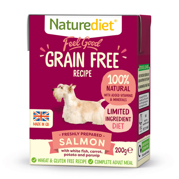 *PROMO* NATUREDIET Feel Good Grain Free Wet Food - Salmon (200g/390g)
