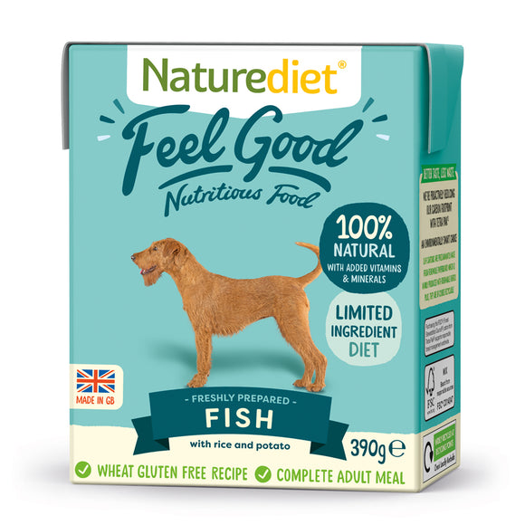 *PROMO* NATUREDIET Feel Good Wet Food - Fish (200g/390g)