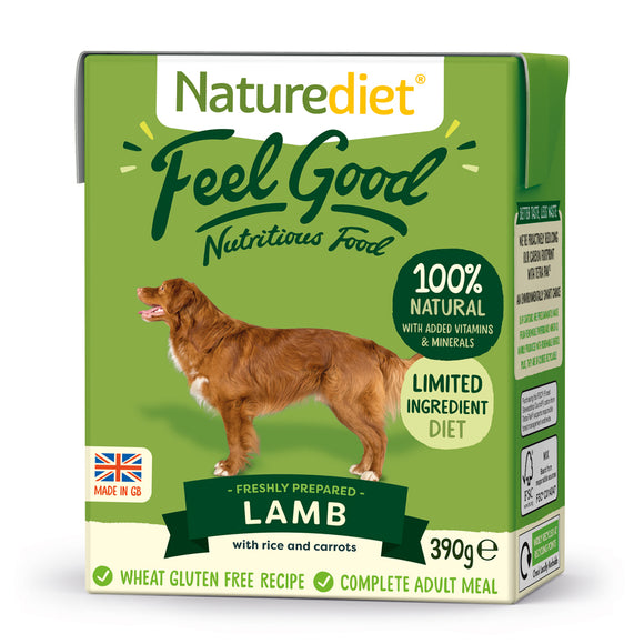 *PROMO* NATUREDIET Feel Good Wet Food -  Lamb (200g/390g)