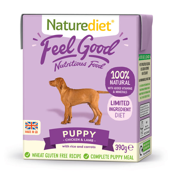 *PROMO* NATUREDIET Feel Good Wet Food -  Puppy (200g/390g)