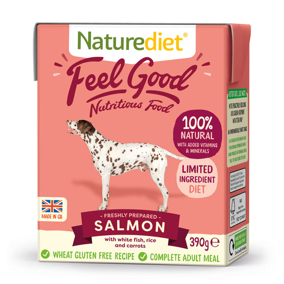 *PROMO* NATUREDIET Feel Good Wet Food - Salmon (200g/390g)