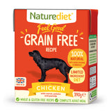 *PROMO* NATUREDIET Feel Good Grain Free Wet Food - Chicken (200g/390g)