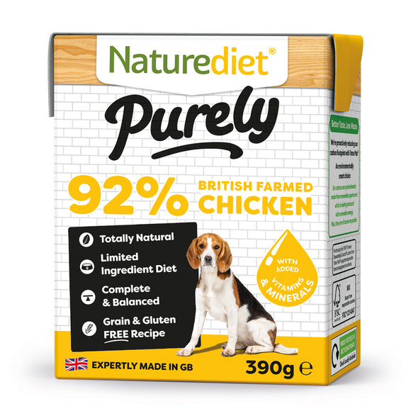 *PROMO* NATUREDIET Purely High Protein Grain Free Wet Food - Chicken (390g)