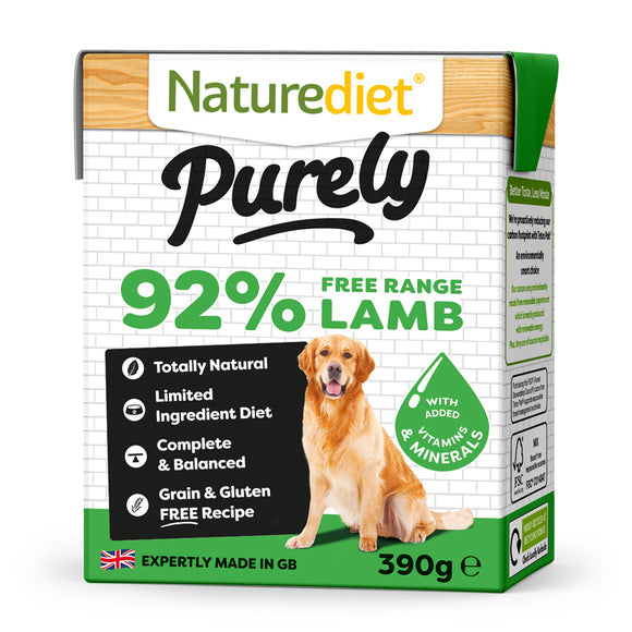 *PROMO* NATUREDIET Purely High Protein Grain Free Wet Food - Lamb (390g)