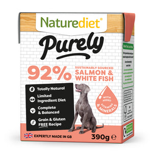 *PROMO* NATUREDIET Purely High Protein Grain Free Wet Food - Salmon & Whitefish (390g)